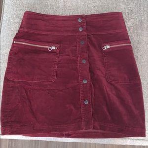 GAP — burgundy velour skirt